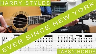 Harry Styles - Ever since New York, GUITAR LESSON, Tutorial, Chords, TAB