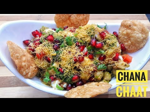 Delicious Chana Chaat Recipe - चना चाट | Cooked Chana Chaat with Meethi Chutney - Iftar recipe