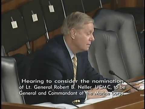 Graham Questions Nominee to be Commandant of The Marine Corps Lt. Gen. Robert Neller