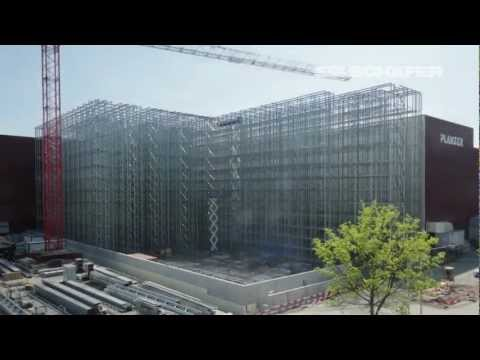 Construction of a Clad Rack High Bay Warehouse in Fast Motion