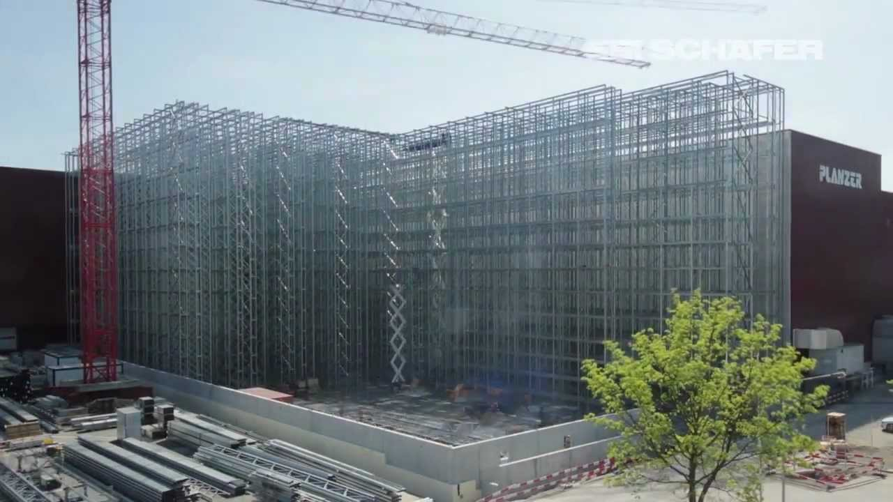 Construction Of A Clad Rack High Bay Warehouse In Fast