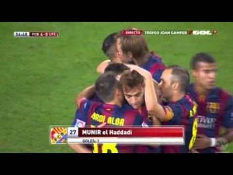 Barcelona vs Club Leon 6:0 Munir elHaddadi Second Goal Friendly Match 2014