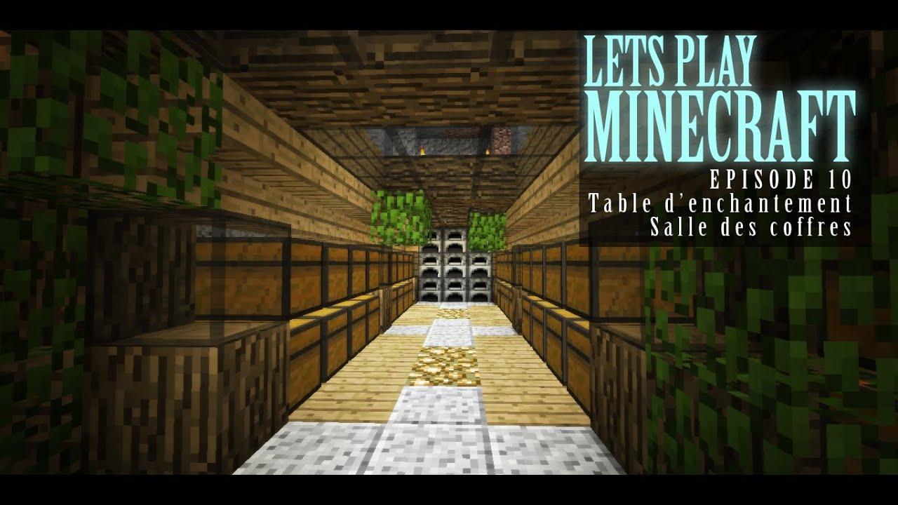 Lets play minecraft 1 8 episode 10 salle des coffres - Table d enchantement minecraft ...
