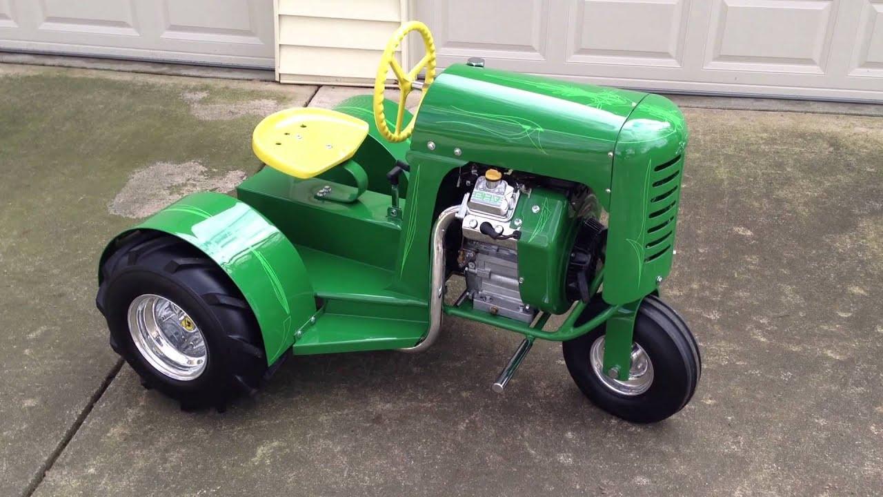 Vintage Lawn And Garden Tractors : Custom hot rod bantam antique garden tractor youtube