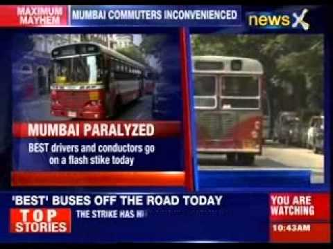 Strike has hit the public transport badly in Mumbai