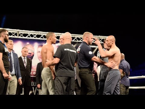DRAMA! ABRAHAM FAILS WEIGHT SPLIT BY SECURITY- CHRIS EUBANK JR v ARTHUR ABRAHAM -WEIGH IN & FACE OFF