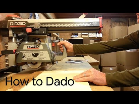 How to Dado on the RAS Radial Arm Saw