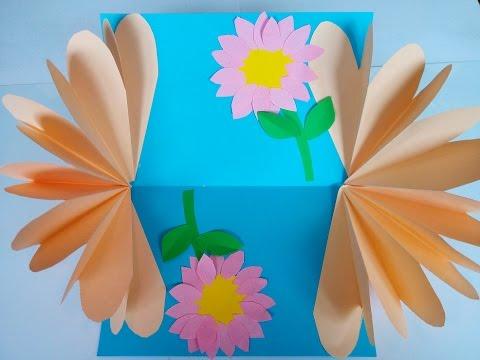 Diy Geschenke Basteln Eine Grusskarte Mit Blumen Basteln Bastelidee