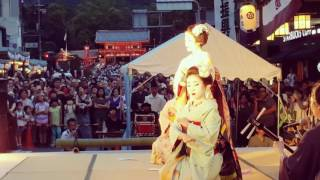 Maiko performing at the Gion Festival