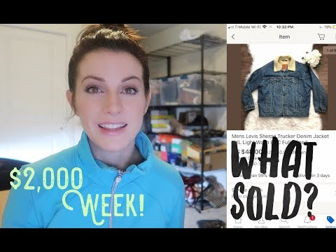 2,000 Sales in One Week! What Sold on eBay? Fashion Brands amp Thrift Finds to Sell for a Profit!