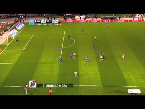 Gol de Mora. River 1 Tigre 0. Fecha 6.Torneo Primera Divisió...