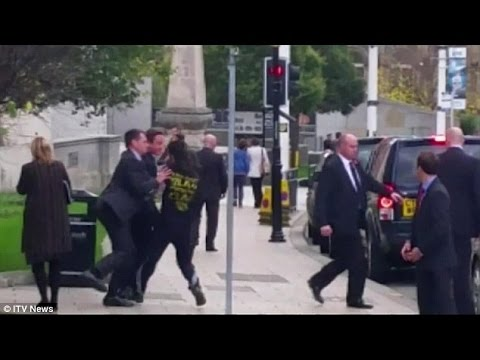 David Cameron shoved in the street by man