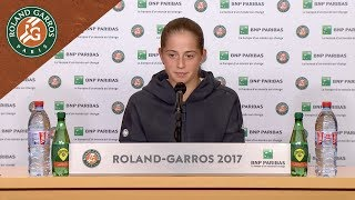 jelena ostapenko   press conference after quarterfinals 2017 roland garros