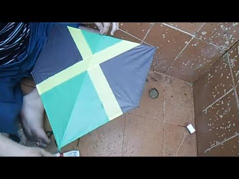 Como fazer pipa ''Jamaica '' passo a passo