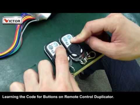 Code Learning For Remote Control Duplicators Youtube