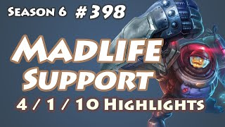 CJ Entus Madlife - Blitzcrank Support - KR LOL SoloQ Highlights
