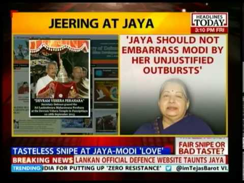 Sri Lankan government endorses Jaya parody?