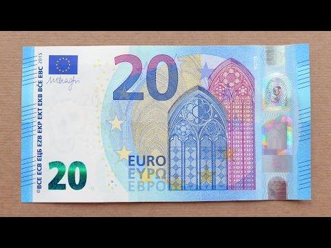 New 20 Euro Banknote (Twenty Euro / 2015) Obverse & Reverse
