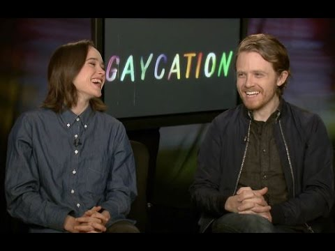 "FUN ""GAYCATION"" INTERVIEW! ELLEN PAGE & IAN DANIEL ON FRIENDSHIP, KARAOKE, & LGBT CULTURES"