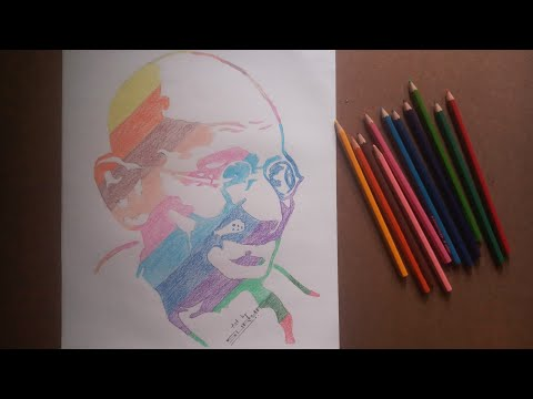 Mahatma Gandhi ji Birthday special drawing # surya pencil art #