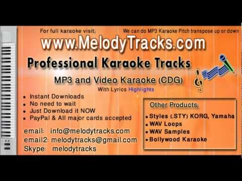 Main shayar badnaam KarAoke - www.MelodyTracks.com
