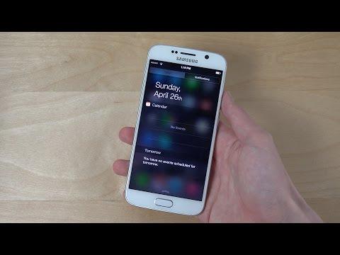 Samsung Galaxy S6 iOS 8 Notification Center Theme - Review! (4K)