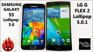 LG G FLEX 2 Lollipop 5.0.1 vs Samsung Galaxy S5 Lollipop 5.0 Antutu Benchmark test