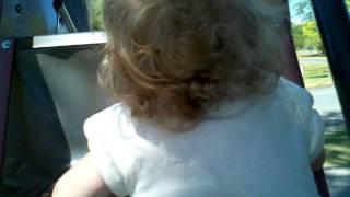Lily loves the slide
