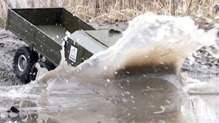 RC Truck OFF Road Slow Motion - MUD Diggers - Man Kat1, Land Rover DEFENDER