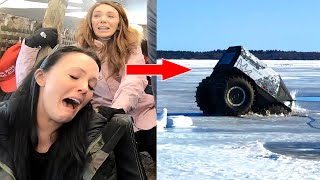 We Fell Through a Frozen Lake!