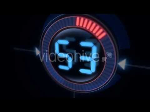 Download video Digital Countdown Motion Graphics Animation