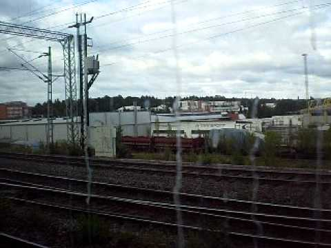 IC 55 passes Tampere tavara and arrives to station