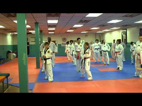 Tae Kwon Do class, balance drills with ankle weights, part 1 Image 1