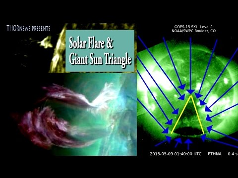 Giant Triangle reappears on the Sun & Massive Solar Flare & CME