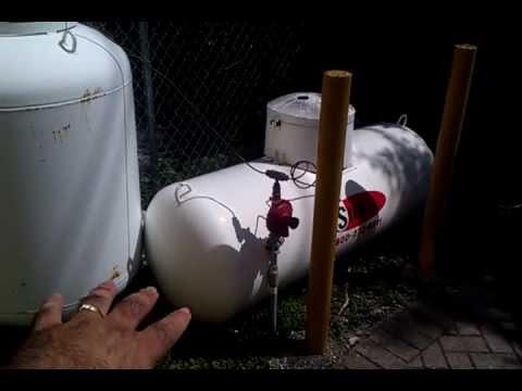 How do i hook up my propane tank to my house