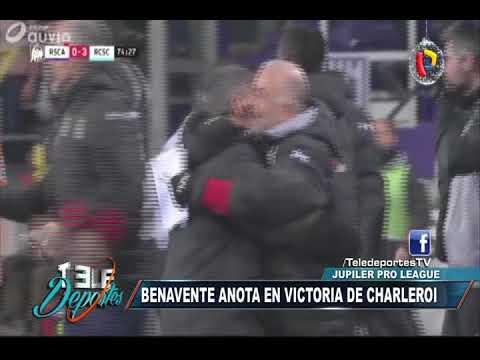 Peruanos en el extranjero: El golazo de Benavente en el 3-1 de Charleroi ante el Anderlecht