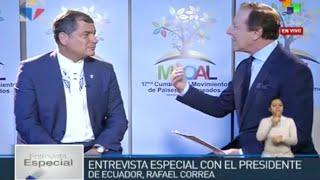 Entrevista del Presidente Rafael Correa con Telesur 17/09/2016