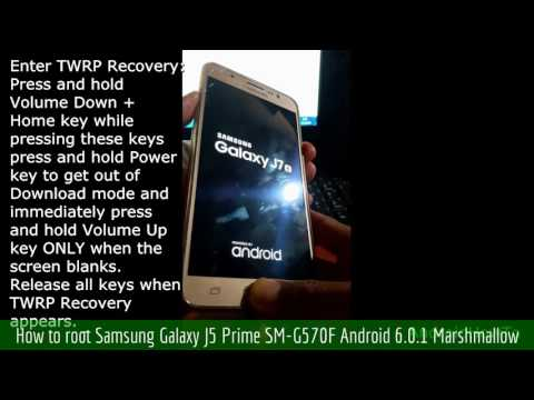 How to root Samsung Galaxy J5 Prime SM-G570F Android 6.0.1 Marshmallow