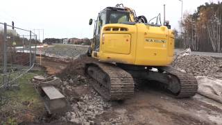 New Holland Excavator at a road construction outside Visby 2013