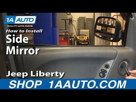 How To Install Replace Broken Side Rear View Mirror 2002-07 Jeep Liberty