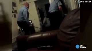 Caught on cam  Mentally disabled man beaten by US police  4/3/14 (Brutality)