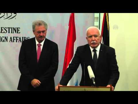 Jean Asselborn   Riyad al Maliki press conference