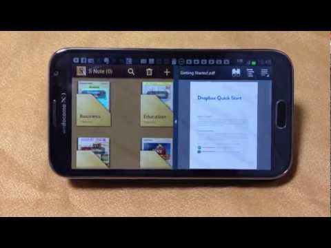 Split-Screen Multitasking on Galaxy Note 2 (2 videos at once!)