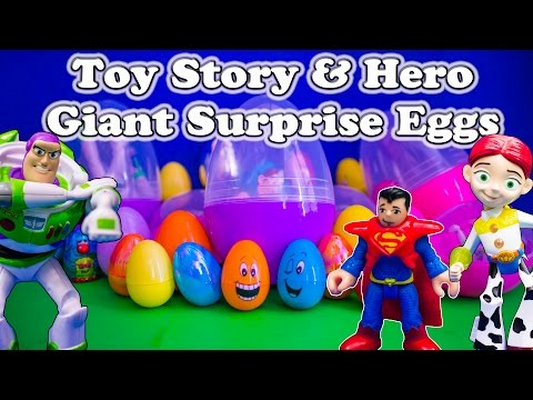 Giant Surprise Eggs Toy Story & Super Hero Surprise Eggs A Surprise Egg Video video