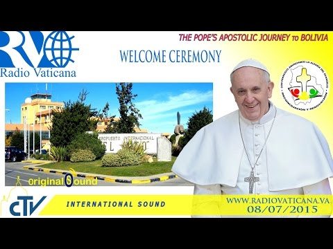 Pope Francis in Bolivia-Welcome Ceremony in La Paz