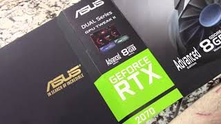 Unboxing of the Asus RTX2070 GPU Gaming Video Card by Impress Computers in Katy TX