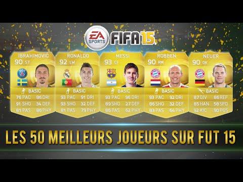 LES 50 MEILLEURS JOUEURS SUR FIFA 15 ULTIMATE TEAM !!!