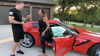 Wife Surprises Husband with a Brand New Corvette!!!