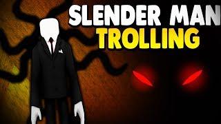 SLENDER MAN DISGUISE TROLLING *QUINTILLION POWER*   Super Power Training Simulator (ROBLOX)