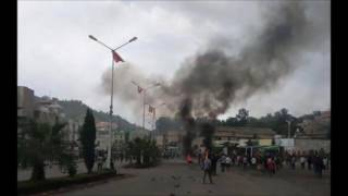 Protest in Gonder and Debremarkos- VOA Amharic
